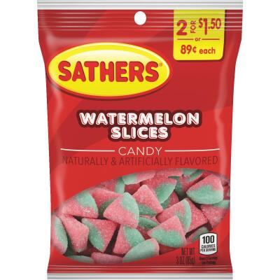 Sathers 3 Oz. Watermelon Slices
